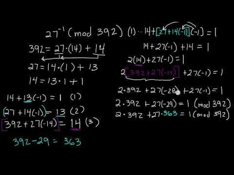 Nasıl Bir Sayı (Mod N) - Modüler Aritmetik - Örnek Ters Tersini Bulmak İçin