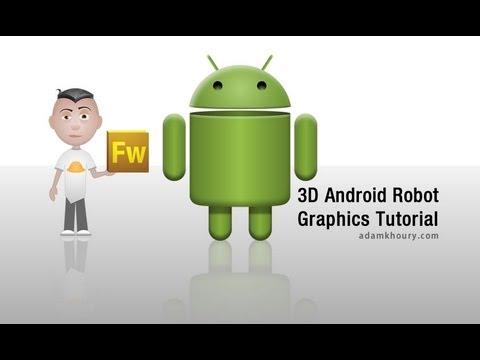 3D Android Robot Grafik Tasarım Eğitimi Adobe Fireworks