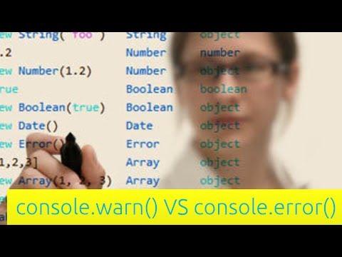 Console.warn Vs Console.error - Javascript Eğitimi Yeni Başlayanlar İçin