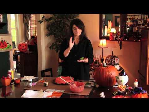 Cadılar Bayramı Balkabağı Şeklinde Pasta : Kabak Oyma Ve El Sanatları