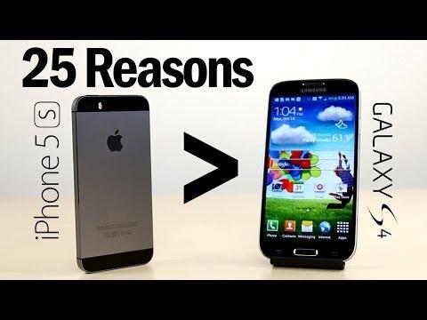25 Neden Neden İphone 5'ler Olduğunu Daha İyi Daha Galaxy S4