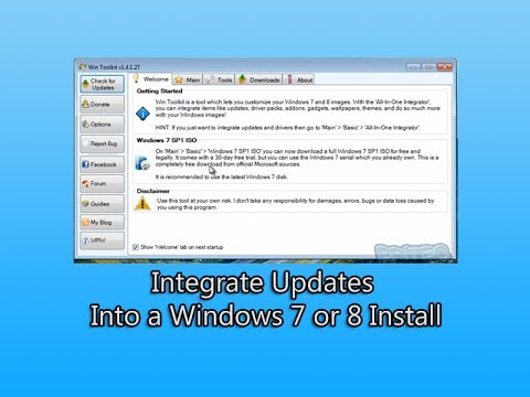 Entegre Güncellemeleri İçine Pencere Eşiği 7 Ya Da 8 Install