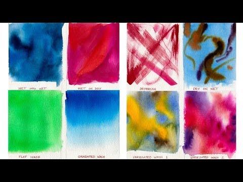 Suluboya Resim Dersleri - Yıkama Teknikleri