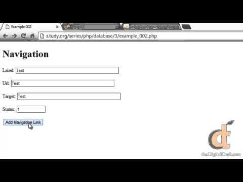 Php 3 - Ders 2 - Göndererek Veri Bir Html Formu İle Veritabanları