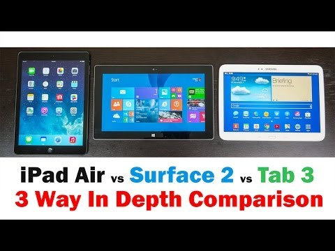 Apple İpad Hava Vs Microsoft Surface 2 Vs Samsung Galaxy Tab 3 (Tam Ayrıntılı Karşılaştırma)