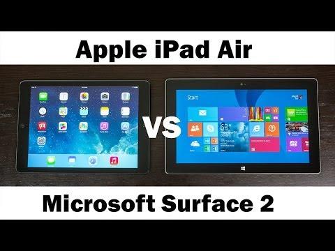 Apple İpad Hava Vs Mıcrosoft Yüzeyi 2 Rt (Tam In-Depth Karşılaştırma)