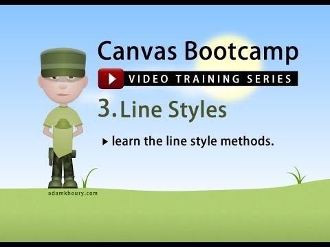 Bootcamp 3 - Çizgi Stilleri Satır Ve Vuruş İçin Tuval