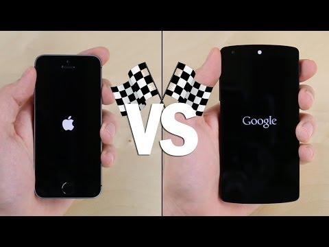 İphone Vs. Nexus 5 5S Hız Testi