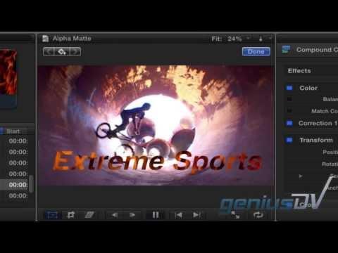 Final Cut Pro Video Metin İçinde X