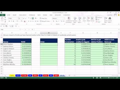 Highline Excel 2013 Sınıf Video 33: Excel'de Sıralama. Excel Sıralama (13 Örnekler)