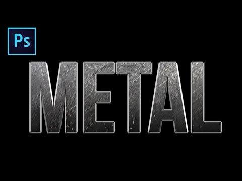 Nasıl Photoshop'ta Bir Metal Metin Etki Oluşturmak İçin