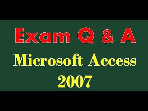 Sınav Hazırlık Microsoft Access 2007