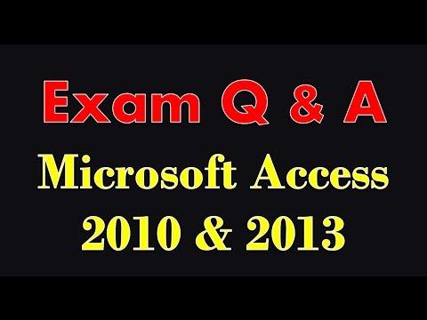 Sınav Hazırlık Microsoft Access 2010/2013