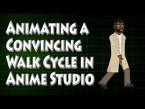 Anime Studio İnandırıcı Bir Yürüyüş Döngüsü Hareketlendirme