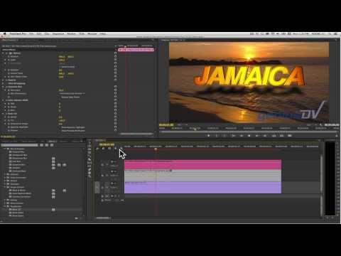 Adobe Premiere 3D Alt Gölge