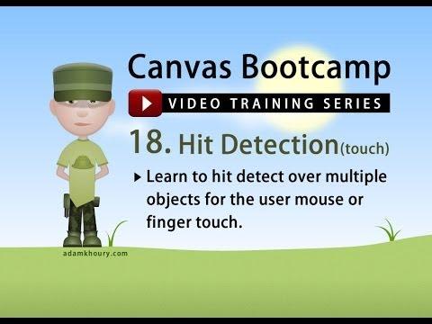Bootcamp 18 - Hit Algılama Fare Touch Nesne Dizileri Üzerinde Tuval