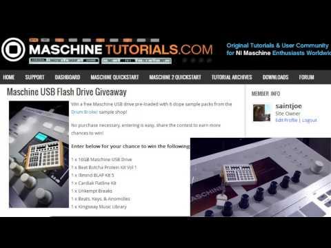 Win Ücretsiz Maschine Usb Flash Sürücü Drum Broker Örnekleri İle Dolu!