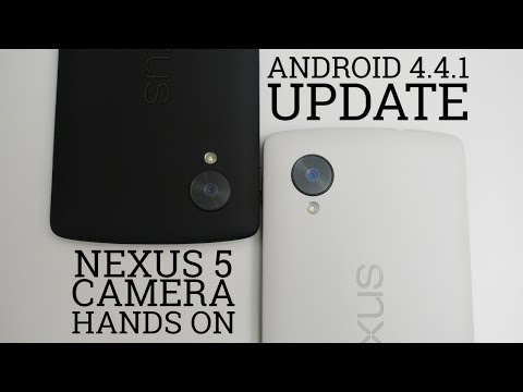 Android 4.4.1 Güncelleştirmek - Nexus 5 Kamera Eller