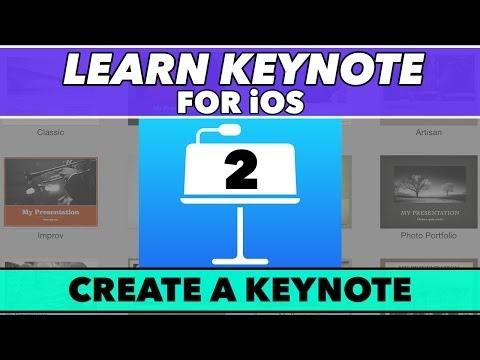 Keynote Ios Öğretici #2 - A Temel Sunu Oluşturmak İçin