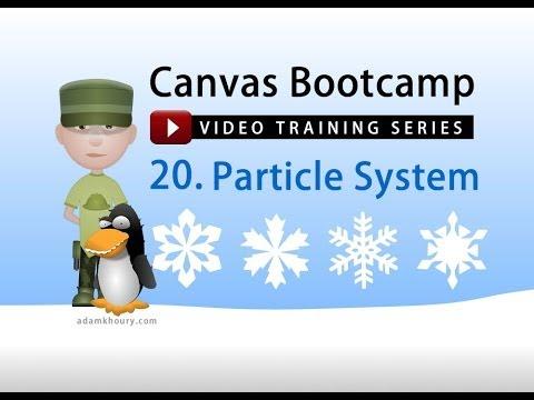 Bootcamp 20 - Parçacık Etkisi Sistem Öğretici Animasyon Düşen Kar Tuval