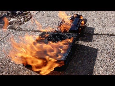 Yeni Xbox Bir - Yangın Testi Yanan