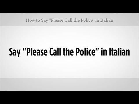 """""""lütfen Polise Haber"""" Demeyi   İtalyan Ders"""
