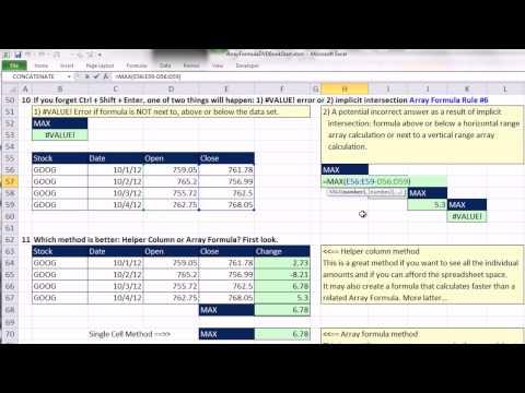 Ctrl + Üst Karakter + Enter: Excel Dizi Formülleri #02: Giriş Dizi Formülleri Ve Matematik Dizi İşlemi