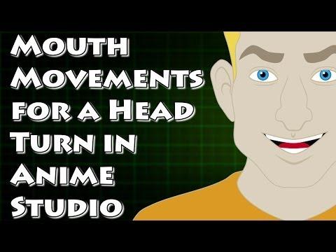 Anime Studio Bir Detaylı Kafa Çevirmek İçin Bir Ağız Arma