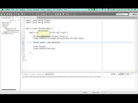 Jpanels İçin Java Öğretici - 40 - Intro