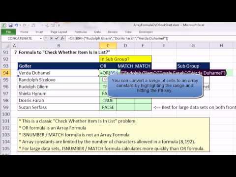 Ctrl + Üst Karakter + Enter: Excel Dizi Formülleri #06: Top 3 Formula Düşeyara, Daha Fazla Dizi Sabitleri
