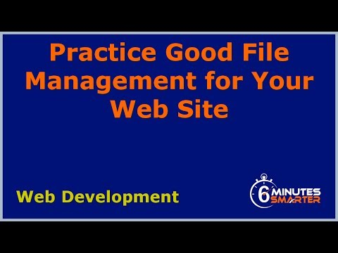 Uygulama İyi Dosya Yönetimi Web Siteniz İçin