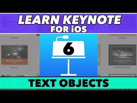 Keynote Ios Öğretici #6 - Metin Nesneleri In-Depth