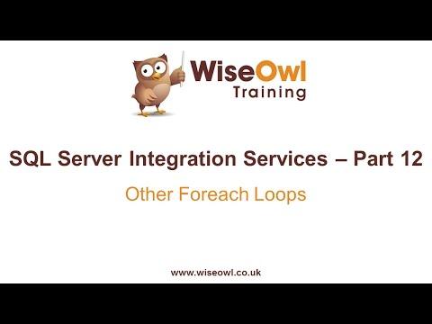 Sql Server Tümleştirme Hizmetleri (Ssıs) Bölüm 12 - Diğer Foreach Döngü