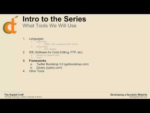 Dinamik Web Sitesi 2014 - Bölüm 1 - Intro Serisi İçin Geliştirme
