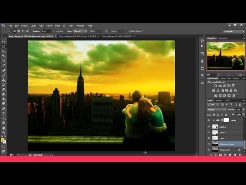 "Öğretici Photoshop Manipulasi Gambar: ""sunset"""