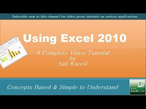 Excel 2010 - Tam Özel Öğretmen Üstünde Çeşitli İşlevleri Kullanarak