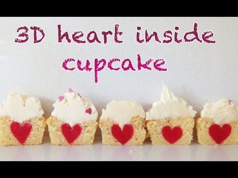 3D Kalp Cupcake İçinde O Ann Reardon Yemek Yapmayı