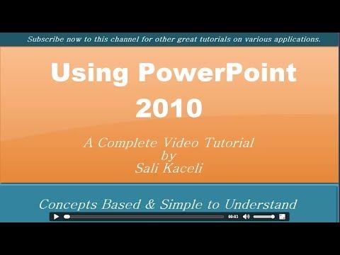 Powerpoint 2010: Öğretici Özelliklerinden En Basit Gelişmiş