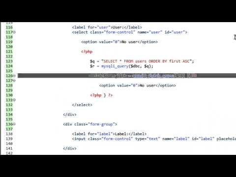 Bir Dinamik Web Sitesi 2014 - Bölüm 37 - Php Ve Mysql İle Bir Dinamik Html Seçin Kutusu Oluşturma Geliştirme