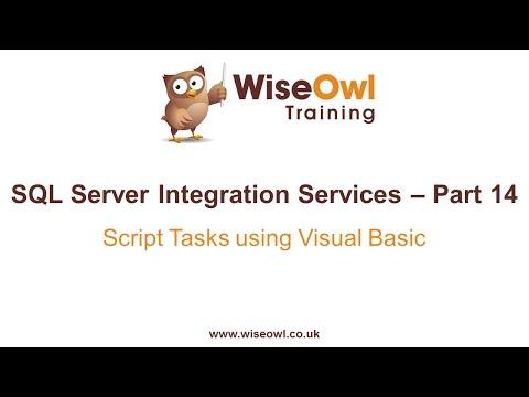 Sql Server Integration Services (Ssıs) Bölüm 14 - Komut Dosyası Visual Basic Kullanarak Görevleri