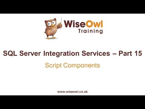 Sql Server Tümleştirme Hizmetleri (Ssıs) Bölüm 15 - Komut Dosyası Bileşenleri