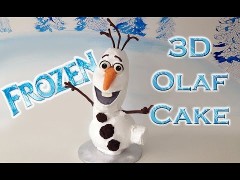 Pasta Olaf Donmuş O Ann Reardon Disney Pasta Dondurulmuş Yemek Yapmayı