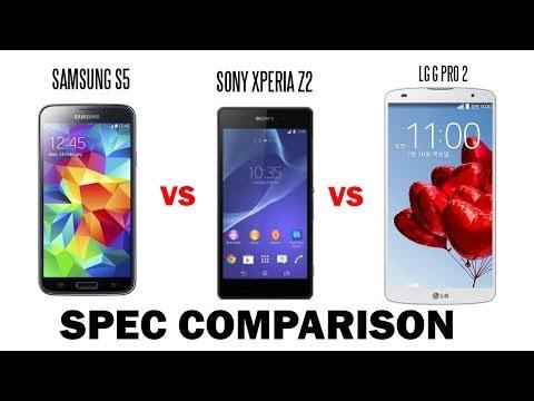 Samsung Galaxy S5 Vs. Sony Xperia Z2 Vs Lg G Pro 2 Karşılaştırma