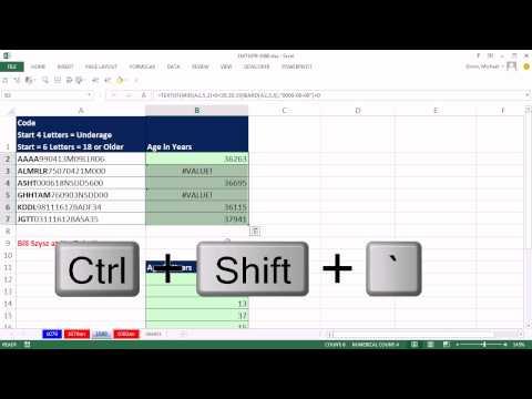 Excel Sihir Numarası 1080: Yaş Alfasayısal Metin Dizesinden, Eksik Tarih Yıl = 20?? Ya Da 19??
