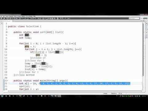 101 - Seçim Sıralama Algoritmaları Java İle Uygulanan