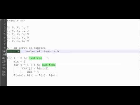 101 - Seçim Sıralama Algoritmaları