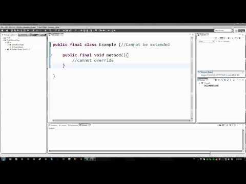 Java Eğitimi - 49 - Son Yöntemleri Ve Sınıfları