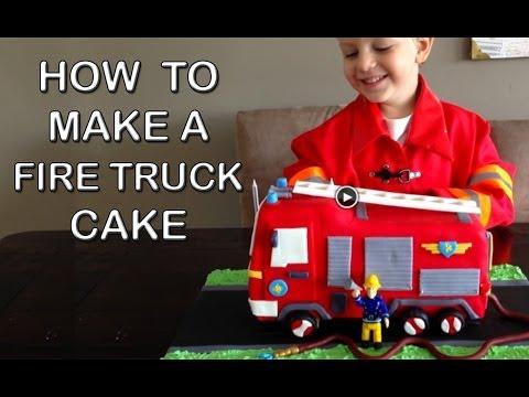 İtfaiye Arabası Pasta Bu İtfaiye Doğum Günü Pastası Yemek Yapmayı