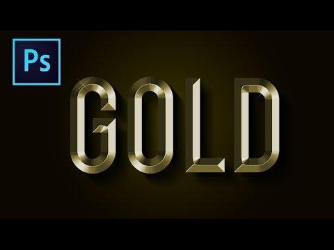 Altın Metin Efekti: Photoshop Eğitimi