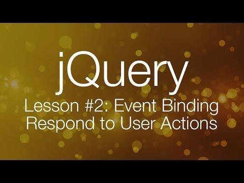 Jquery Öğretici #2 - Olay Bağlama - Jquery Eğitimi Yeni Başlayanlar İçin